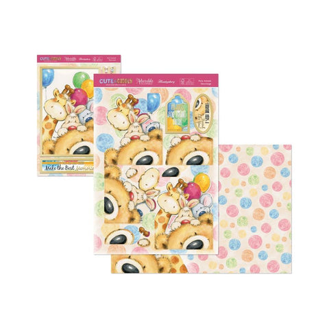 Hunkydory Cute & Cuddly A4 Decoupage Large Set - Party Animals