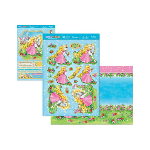 Hunkydory Cute & Cuddly A4 Decoupage Large Set - Little Princess
