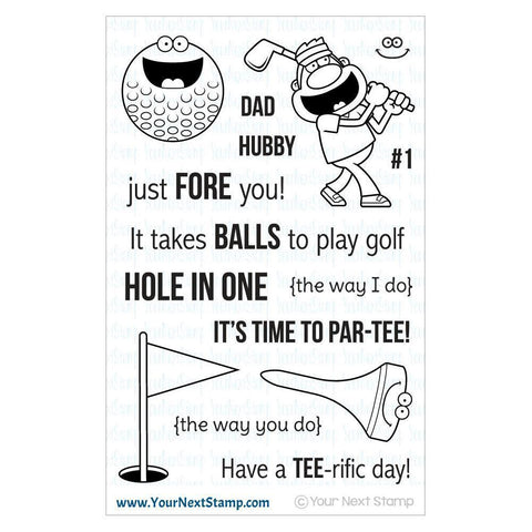 Your Next Stamp Clear Stamps 4x6 - Tee Time
