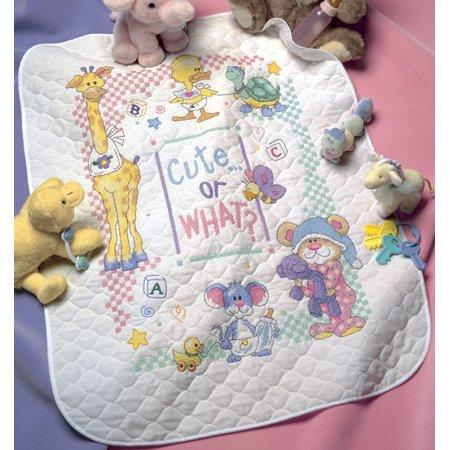 Dimensions/Baby Hugs Quilt Stamped Cross Stitch Kit 34x43 inch - Cute...Or What?