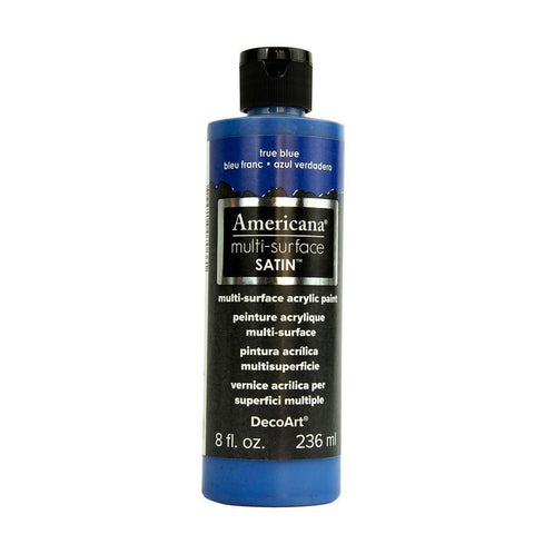 Deco Art - Americana - Multi-Surface Satin Acrylic Paint 2oz - True Blue