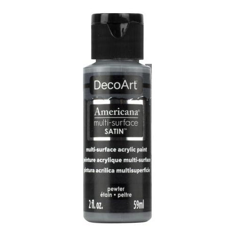 Deco Art - Americana Multi-Surface Satin Acrylic Paint 2oz Pewter