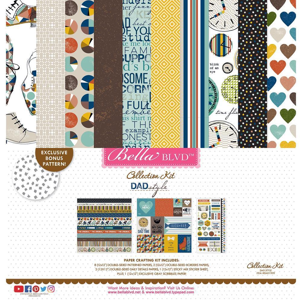 Bella Blvd Collection Kit 12 x12 inch - Dad Style