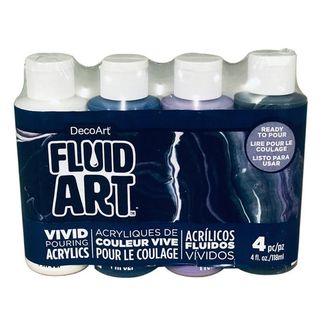 Deco Art - FluidArt Paint Pouring Value Pack 4 pack - Galactic