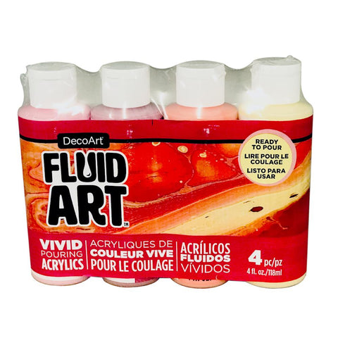 Deco Art - FluidArt Paint Pouring Value Pack 4 pack - Sweet Treat