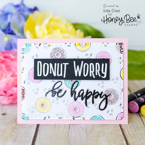 Honey Bee 4x4 inch Stamp Set - Donut Worry