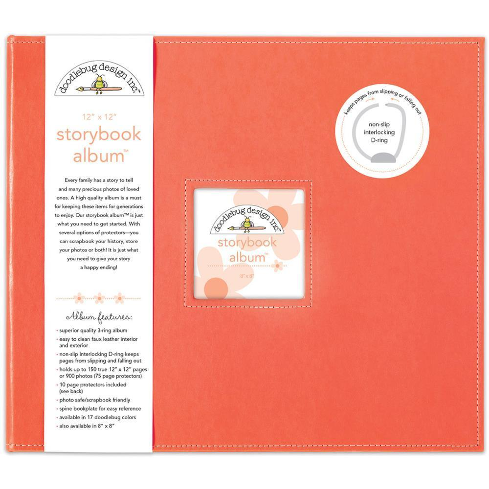 Doodlebug Storybook Album 12 inch X12 inch Coral