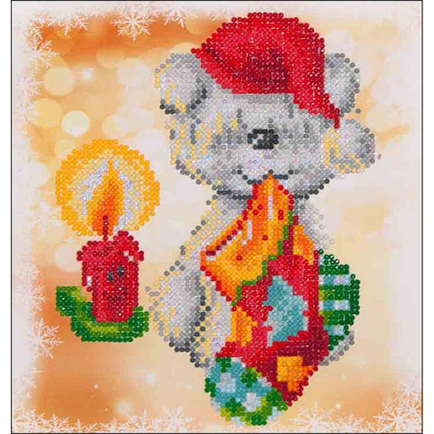 Diamond Dotz Diamond Embroidery Facet Art Kit 9x9.8 inches - Puppy Stocking