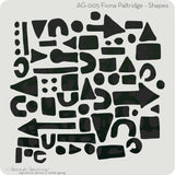 Donna Downey Artist Gang Stencils 8 inch X8 inch - Shapes