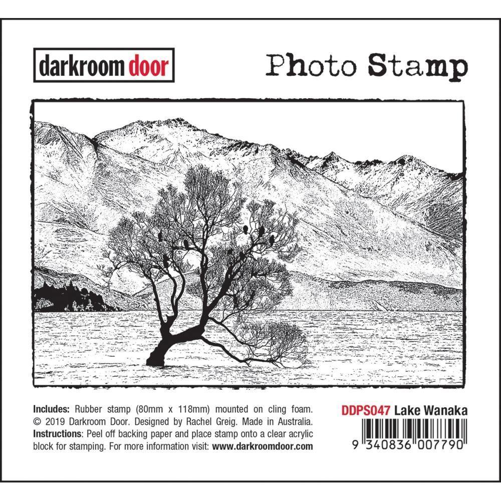 Darkroom Door - Photo Cling Stamp 4.6 inch X3.2 inch - Lake Wanaka