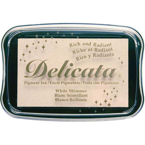 Delicata Pigment Ink Pad - White Shimmer
