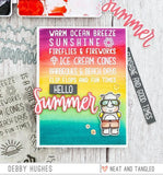 Neat & Tangled Clear Stamps 4inch X6inch Hello Summer