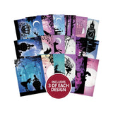 Hunkydory - Topper Deck 2.5 inch X3.5 inch  54 pack - Once Upon A Twilight, 18 Designs