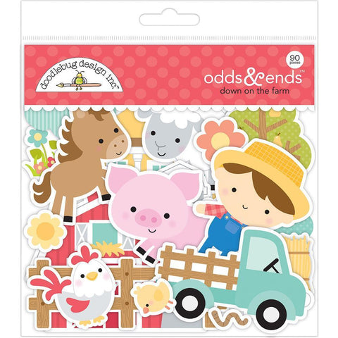 Doodlebug Odds & Ends Die-Cuts 90 pack - Down On The Farm