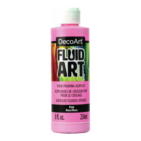 Deco Art - FluidArt Paint Pouring 8 fl.oz. - Pink