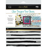 Thermoweb Deco Foil Clear Toner Sheets 8.5x11 inch 4 pack - Distressed Lines