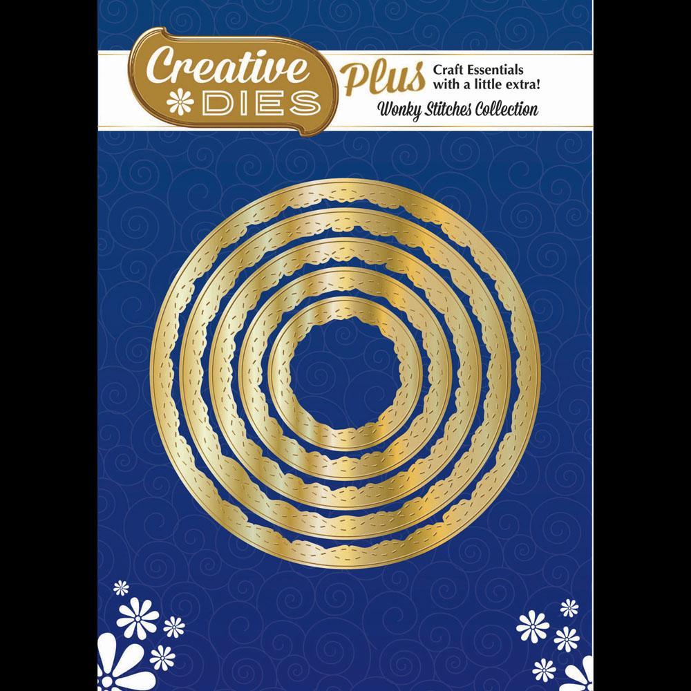 Creative Dies Plus - Wonky Stitches Collection - Nesting Circles