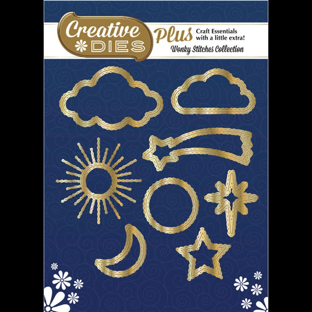 Creative Dies Plus - Wonky Stitches Collection - Stitched Sky Icons
