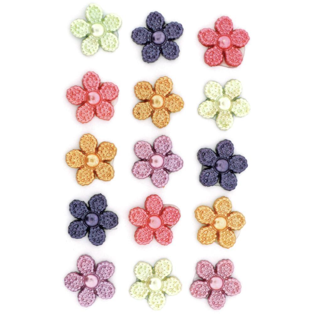 Dress It Up Embellishments - Pearl Flowers