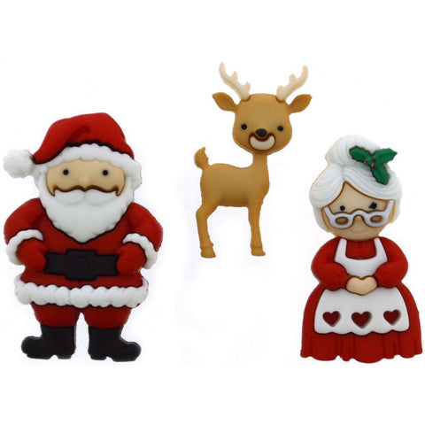 Dress It Up Holiday Embellishments - Mr. & Mrs. Claus