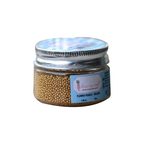 Dress My Craft Flower Pearls 1oz - Golden