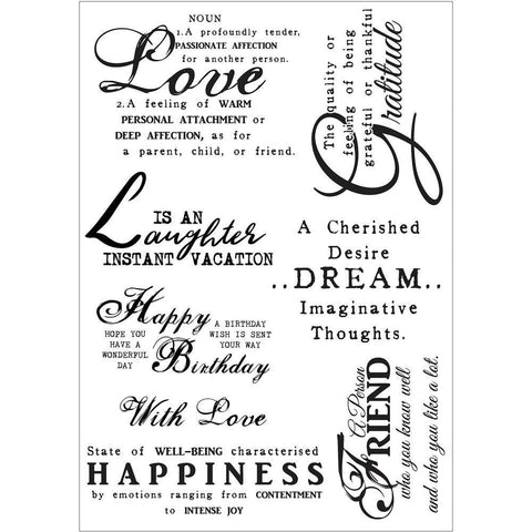 Debbi Moore Life Quotes A5 Stamp Sheet - Inspiration 10
