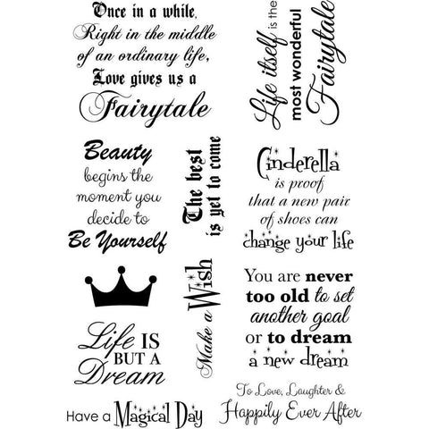 Debbi Moore Life Quotes A5 Stamp Sheet - Inspiration 11