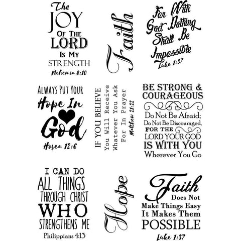 Debbi Moore Life Quotes A5 Stamp Sheet - Inspiration 20
