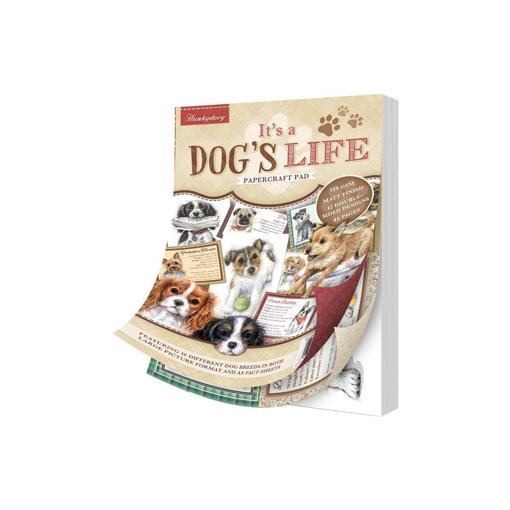 Hunkydory It's A Dog's Life D/S Paper Pad A5 48 pack - It's A Dog's Life