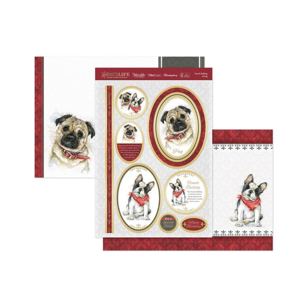 Hunkydory Its A Dogs Life Luxury A4 Topper Set - French Bulldog & Pug
