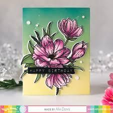 Waffle Flower Crafts Clear Stamp 5x7inch - Magnolia