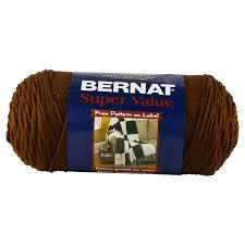 Bernat Super Value Solid Yarn - Walnut - 7oz (197g) 426yd