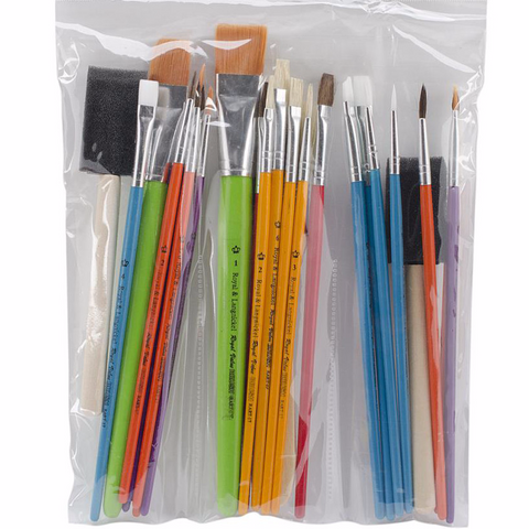 Universal Crafts - Assorted Brush Value Pack 25 Pack