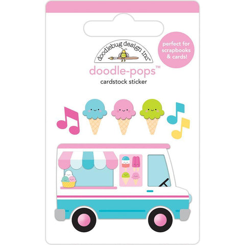 Doodlebug Doodle-Pops 3D Stickers - Ice Cream Truck