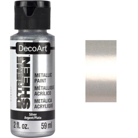 DecoArt Extreme Sheen Paint 2oz - Sterling Silver
