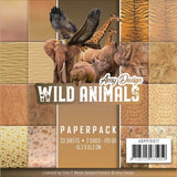 Find It Trading Amy Design Paper Pack 6 inch X6 inch 23 pack Wild Animals