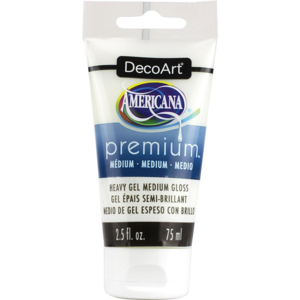 Americana Premium Acrylic Medium Paint Tube 2.5oz - Gel