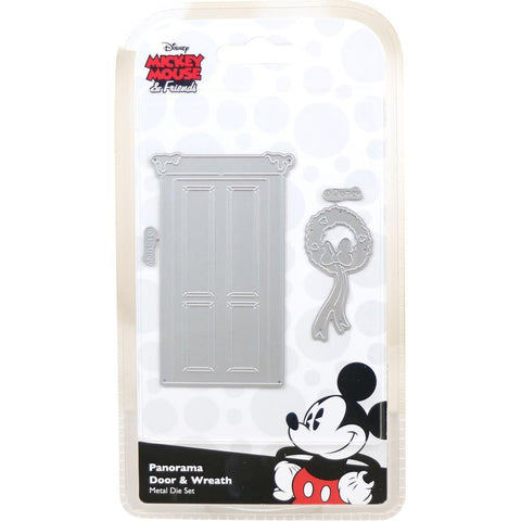 Disney Vintage Mickey Die Set - Panorama Door & Wreath