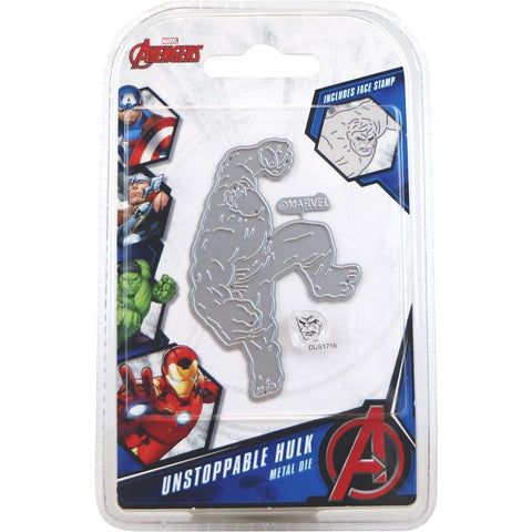 Marvel Avengers Die And Face Stamp Set - Avengers Unstoppable Hulk