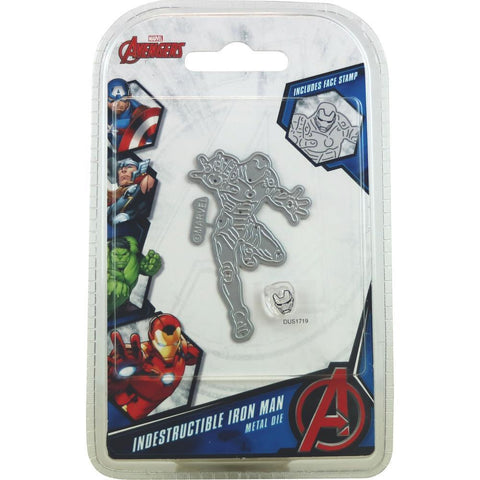 Marvel Avengers Die And Face Stamp Set - Avengers Indestructible Iron Man