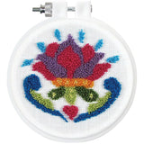 Design Works Punch Needle Kit 3.5 inch Round - Flower