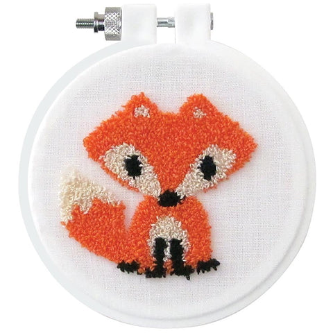 Design Works Punch Needle Kit 3.5 inch Round - Fox
