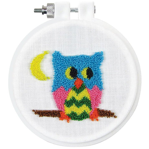 Design Works Punch Needle Kit 3.5 inch Round - Owl