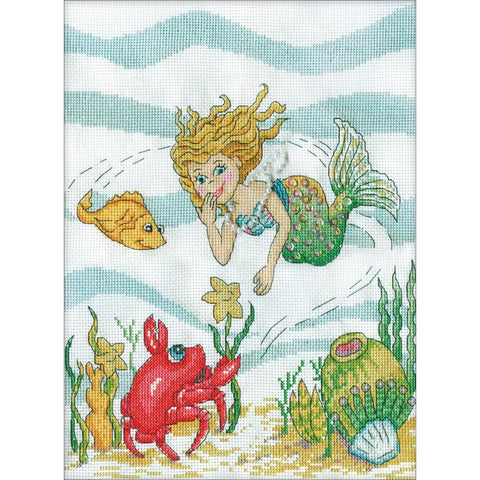 Design Works Counted Cross Stitch Kit 9x12 inch - Mermaid (14 Count)