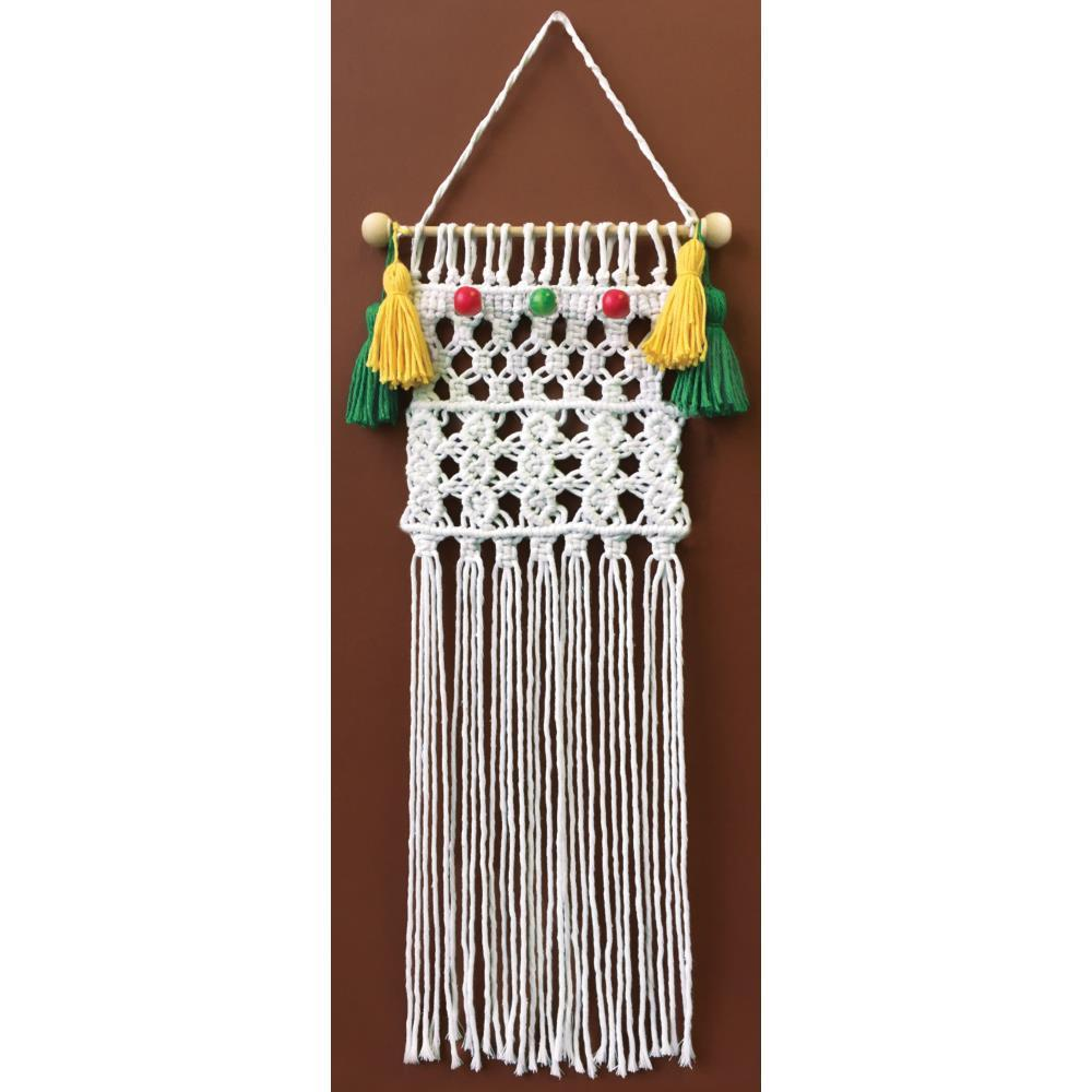 Design Works/Zenbroidery Macrame Wall Hanging Kit 8x24 inch - Fiesta