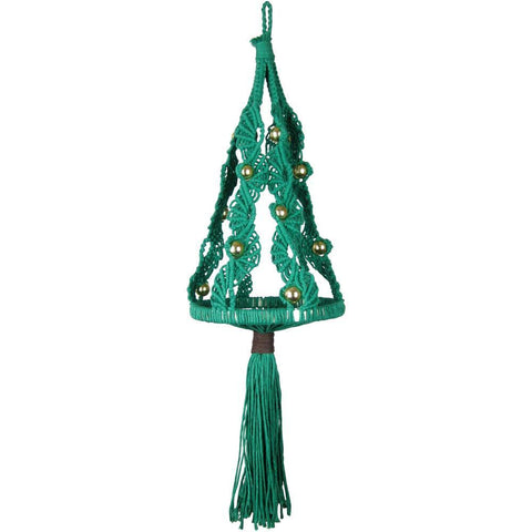 Design Works/Zenbroidery Macrame Wall Hanging Kit 8in X24in - Christmas Tree