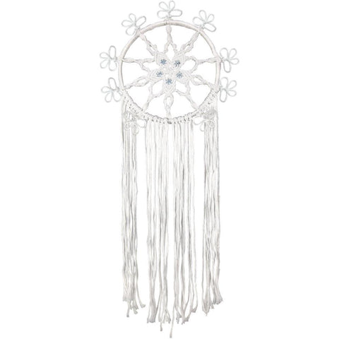 Design Works/Zenbroidery Macrame Wall Hanging Kit 10in X20 inch - Snowflake Ring