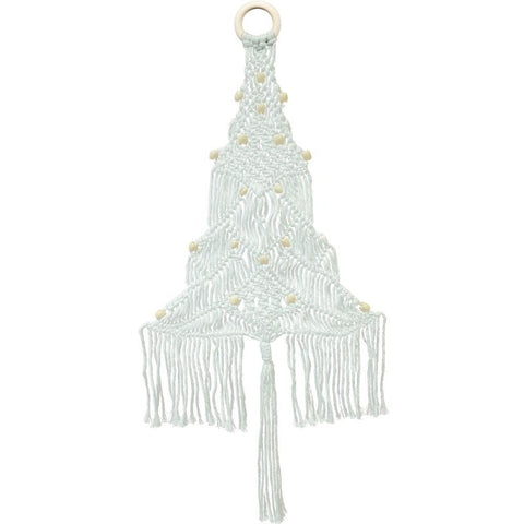 Design Works/Zenbroidery Macrame Wall Hanging Kit 11in x 24in - White Tree
