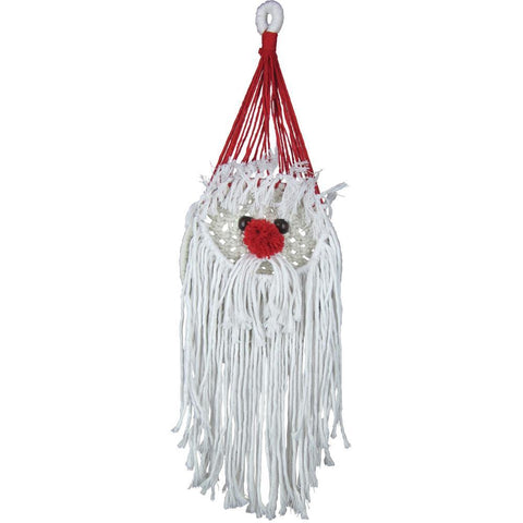 Design Works/Zenbroidery Macrame Wall Hanging Kit 6in X18in - Santa