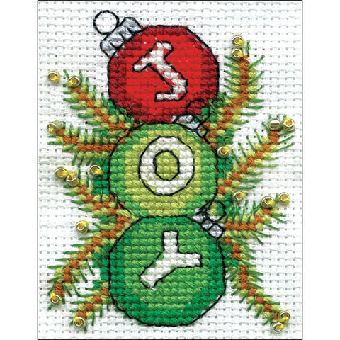 Design Works Counted Cross Stitch Kit 2inch X3inch Joy (14 Count)